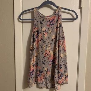 Old Navy Grey Floral Swing Tank S